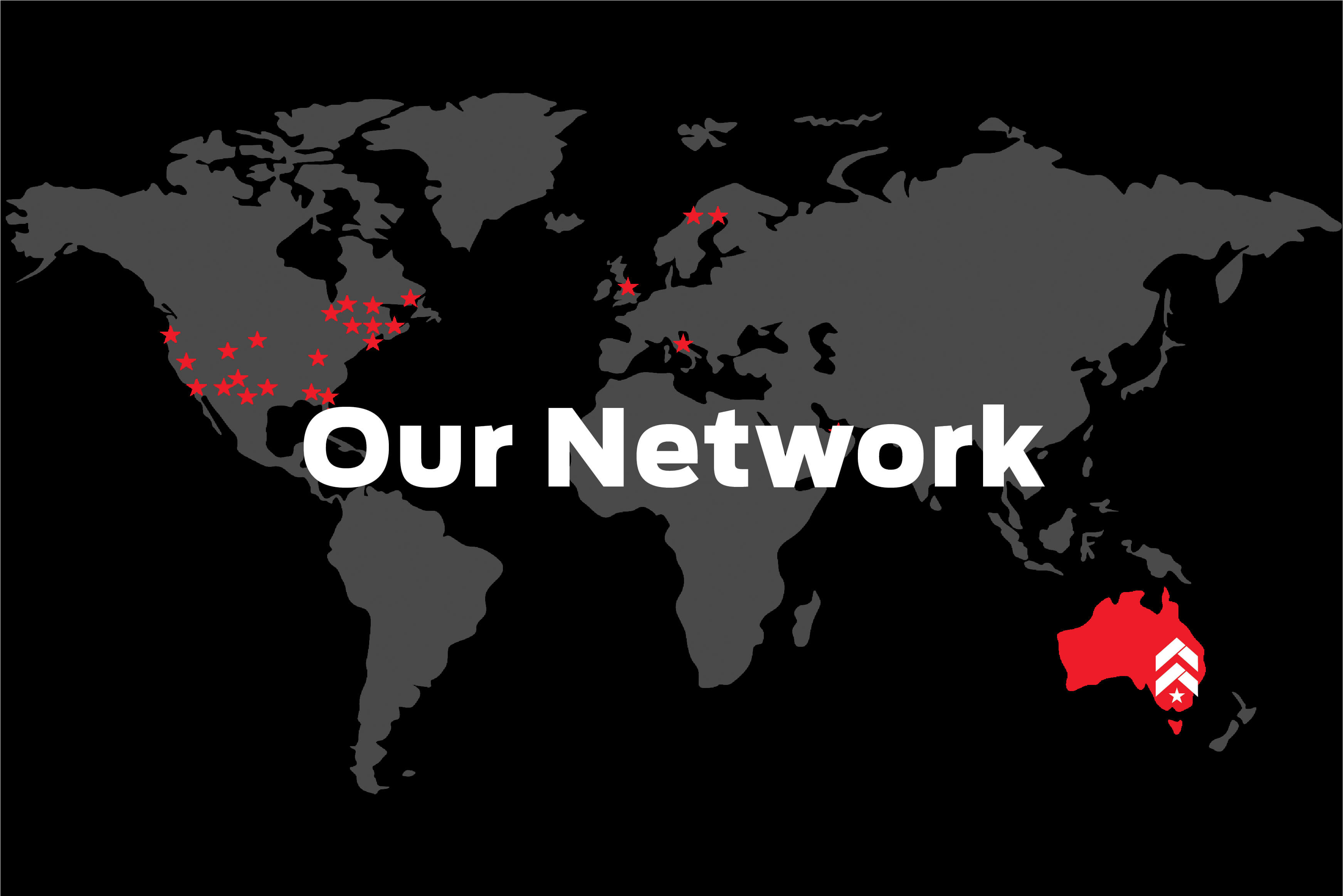 Barry's global network map